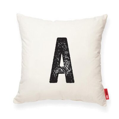Dolton Letter A Cotton Throw Pillow