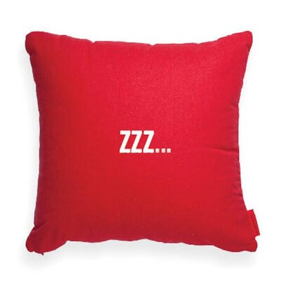 Pettis ZZzzz Throw Pillow Size: 17H x 17W
