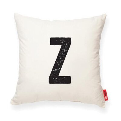 Dolton Letter Z Throw Pillow Pillow Cover Color: Cream