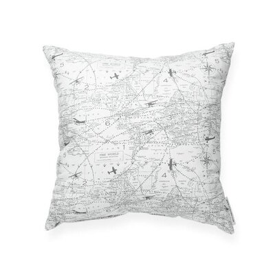 Vivan Airplane Aviation Cotton Throw Pillow