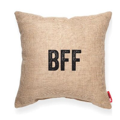 Pettis Best Friends Forever Throw pillow Pillow Cover Color: Brown