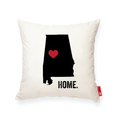 Pettry Alabama Cotton Throw Pillow