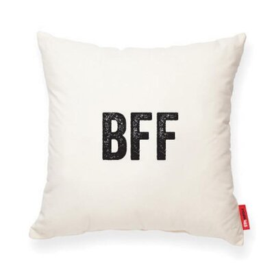 Pettis Best Friends Forever Throw pillow Pillow Cover Color: Cream