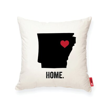 Pettry Arkansas Cotton Throw Pillow