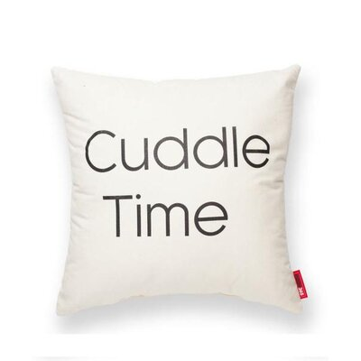 Pettis Cuddle Time Throw Pillow Pillow Cover Color: Cream