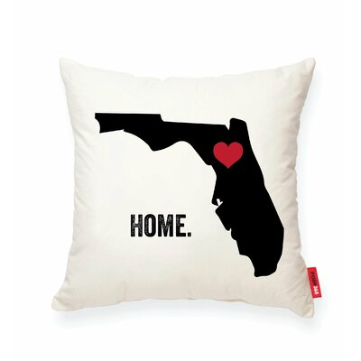 Pettry Florida Cotton Throw Pillow