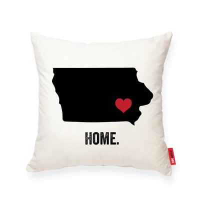 Pettry Iowa Cotton Throw Pillow