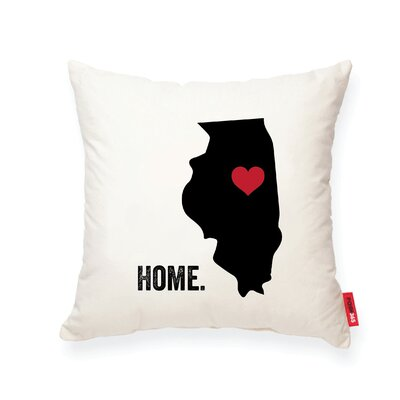 Pettry Illinois Cotton Throw Pillow