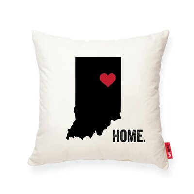 Pettry Indiana Cotton Throw Pillow