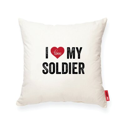 Pettitt I Heart Soldier Cotton Throw Pillow
