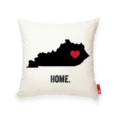 Pettry Kentucky Cotton Throw Pillow