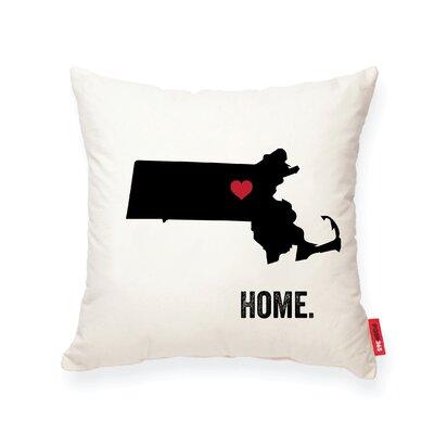 Pettry Massachusetts Cotton Throw Pillow