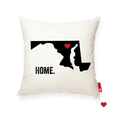 Pettry Maryland Cotton Throw Pillow