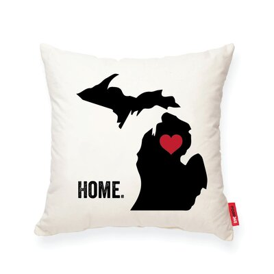 Pettry Michigan Cotton Throw Pillow