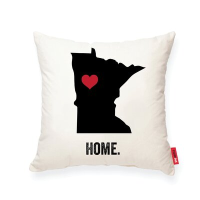 Pettry Minnesota Cotton Throw Pillow