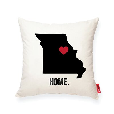 Pettry Missouri Cotton Throw Pillow