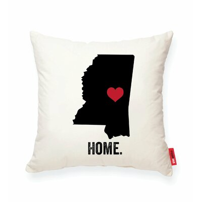 Pettry Mississippi Cotton Throw Pillow