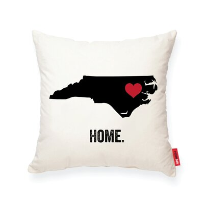 Pettry North Carolina Cotton Throw Pillow