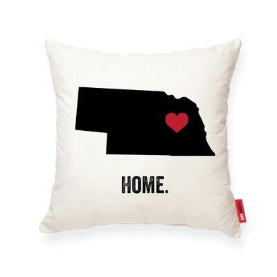 Pettry Nebraska Cotton Throw Pillow