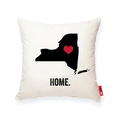 Pettry New York Cotton Throw Pillow
