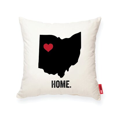 Pettry Ohio Cotton Throw Pillow