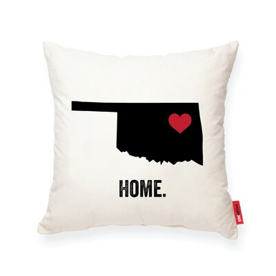 Pettry Oklahoma Cotton Throw Pillow