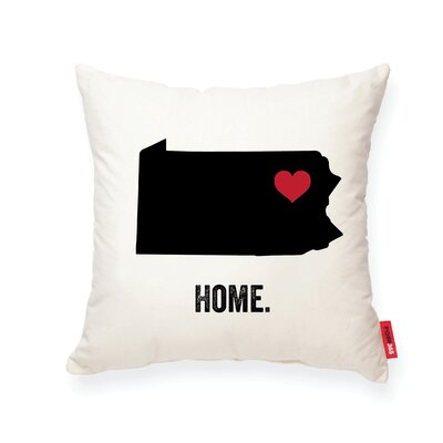 Pettry Pennsylvania Cotton Throw Pillow
