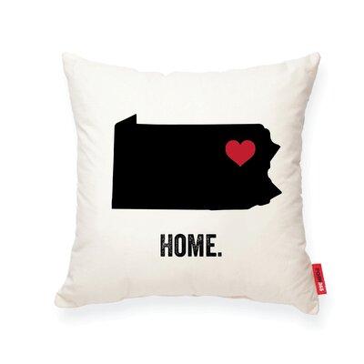 Pettry Pennsylvania Cotton Throw Pillow