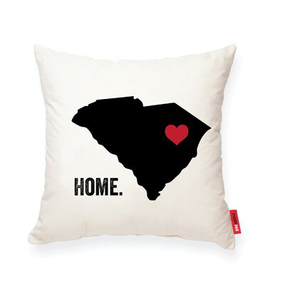 Pettry South Carolina Cotton Throw Pillow