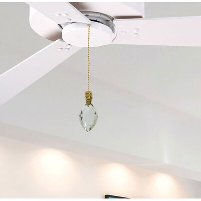 Fan Pull Chain with Pear Shaped Crystal Finial