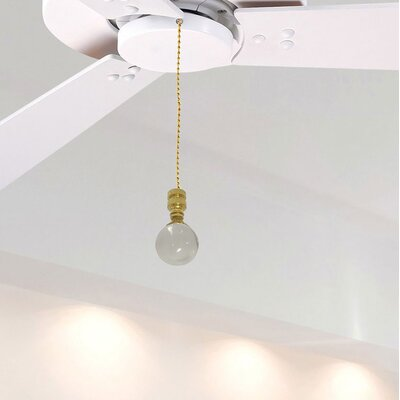 Fan Pull Chain with Clear Crystal Finial