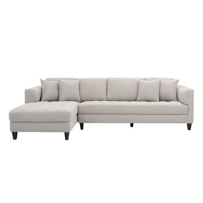 5West Sectional Upholstery: Beige