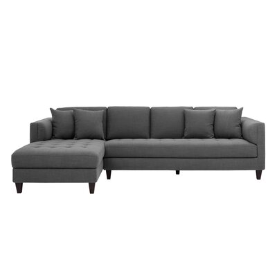 5West Sectional Upholstery: Gray