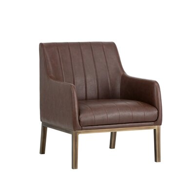 Irongate Wolfe Lounge Chair Upholstery: Cognac
