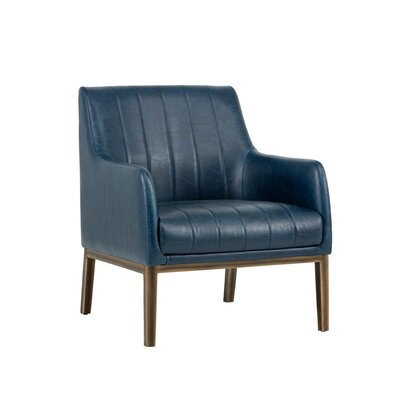 Irongate Wolfe Lounge Chair Upholstery: Blue
