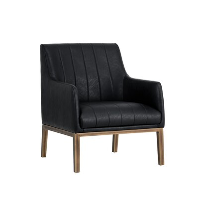 Irongate Wolfe Lounge Chair Upholstery: Black