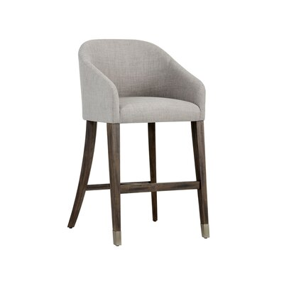Zenn Nellie 30 Bar Stool Upholstery: Gray