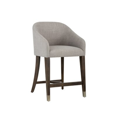 Zenn Nellie Counter 26 Bar Stool Upholstery: Gray