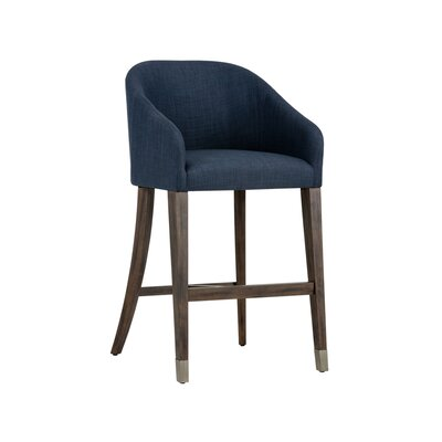 Zenn Nellie 30 Bar Stool Upholstery: Navy