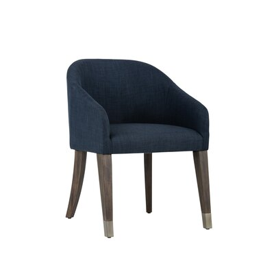 Zenn Nellie Barrel Chair Upholstery: Navy