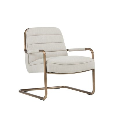 Irongate Lincoln Lounge Chair Upholstery: Linen