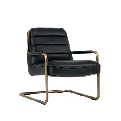 Irongate Lincoln Lounge Chair Upholstery: Black