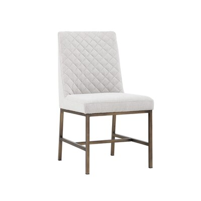 5West Leighland Upholstered Dining Chair (Set of 2) Upholstery: Light Gray