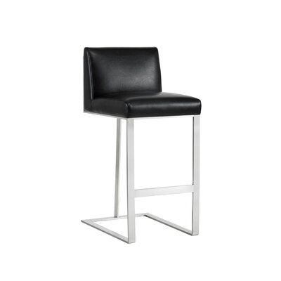Club Dean 30 Bar Stool Upholstery: Black