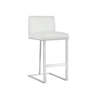 Club Dean 30 Bar Stool Upholstery: White