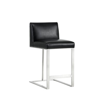 Club Dean Counter 26 Bar Stool Upholstery: Black
