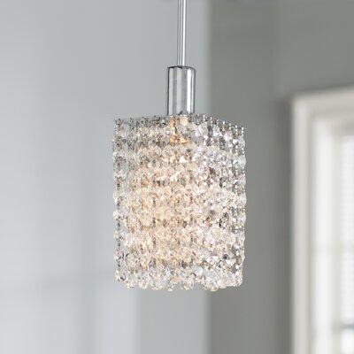 Boleyn Crystal 1-Light Mini Pendant Finish: Clear
