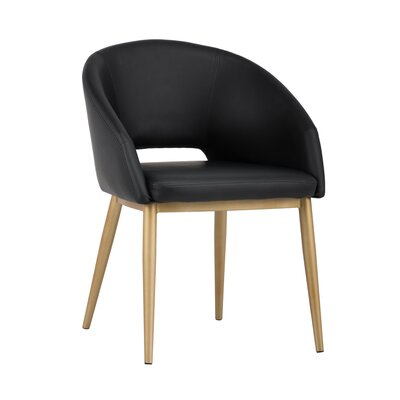 Urban unity Thatcher Upholstered Barrel Chair Upholstery: Onyx