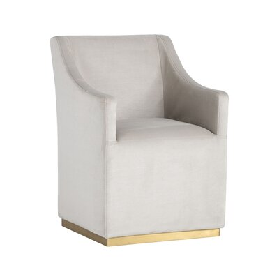 Zane Wheeled Lounge Chair Upholstery: Champagne