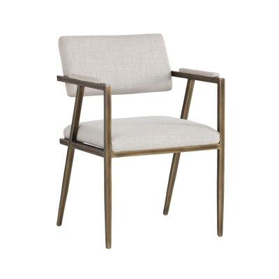 Irongate Ventouz Upholstered Armchair Upholstery: Linen